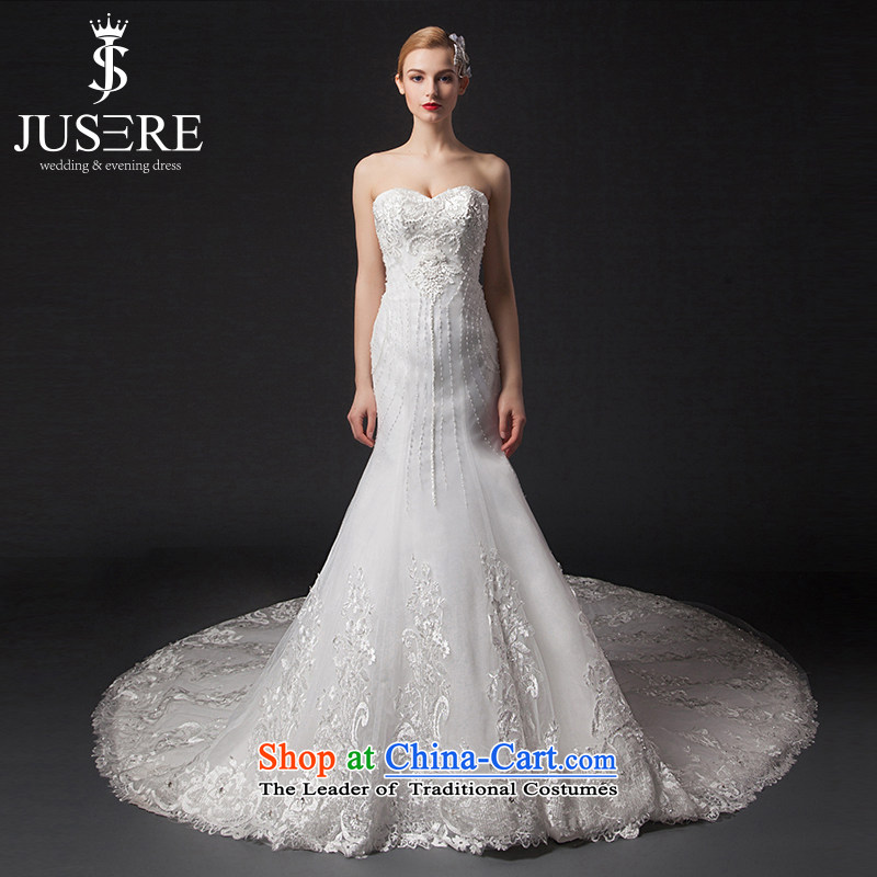 There is a white country�2015 New Sau San anointed chest crowsfoot wedding dresses trailing white�10 Code