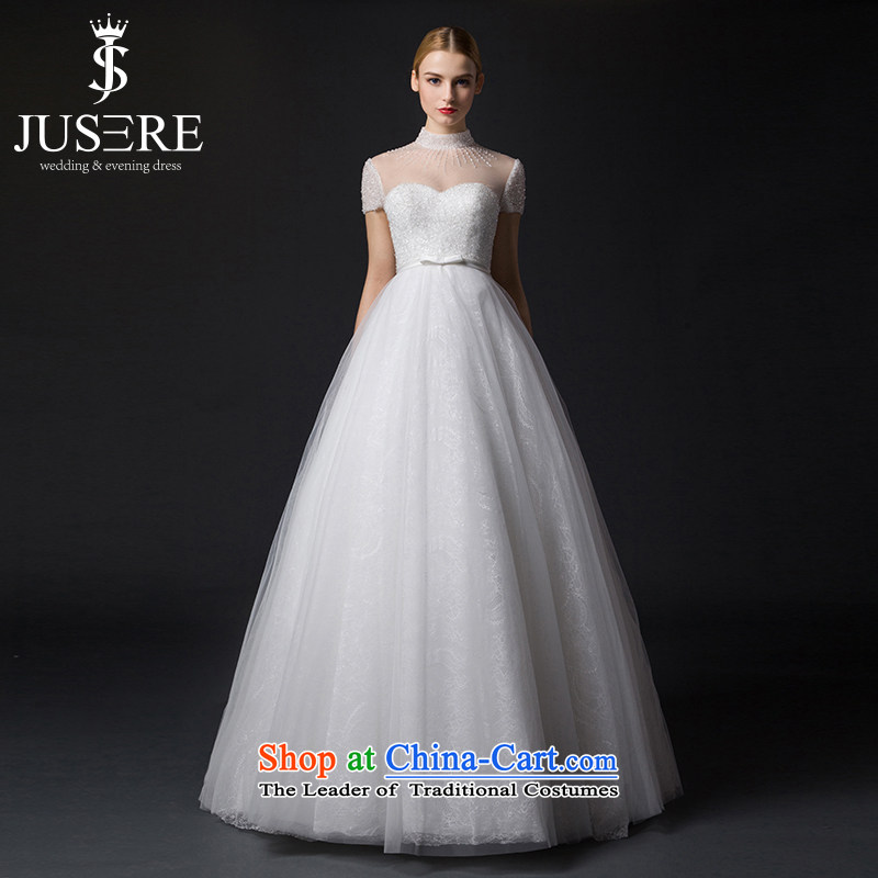 There is a glass rain wedding dresses to align the new 2015 lace bon bon skirt White 6 yards