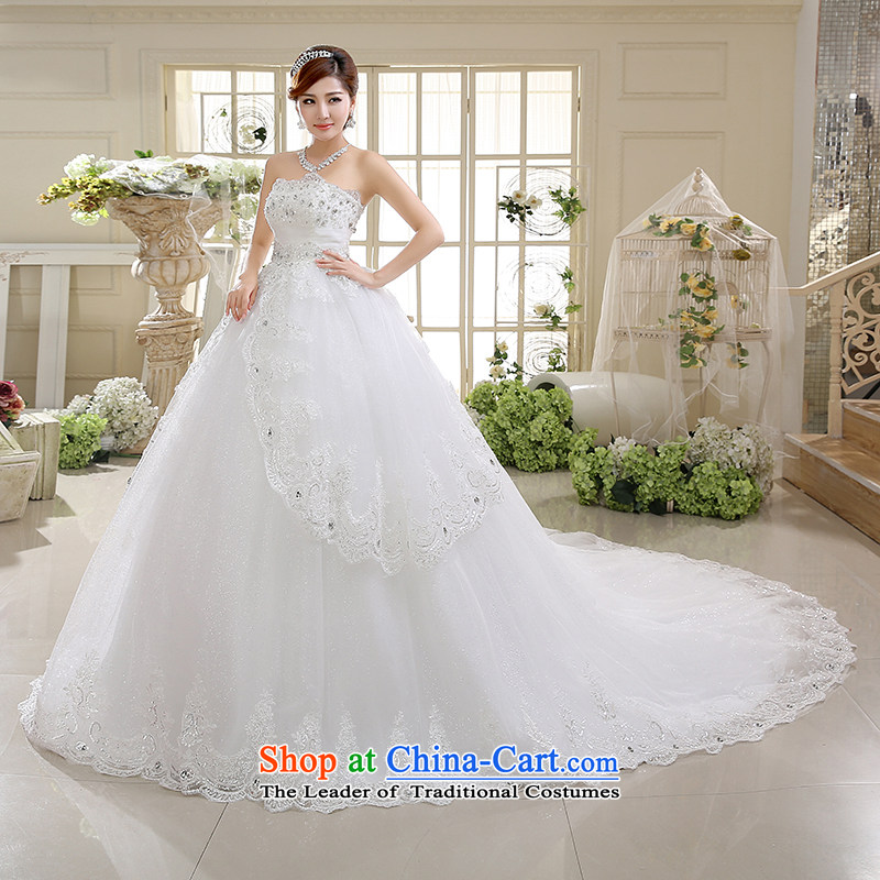 The first white into about high waist wedding Korean anointed chest tail bon bon skirt bride deluxe body wedding dresses 2015 Spring New White聽M