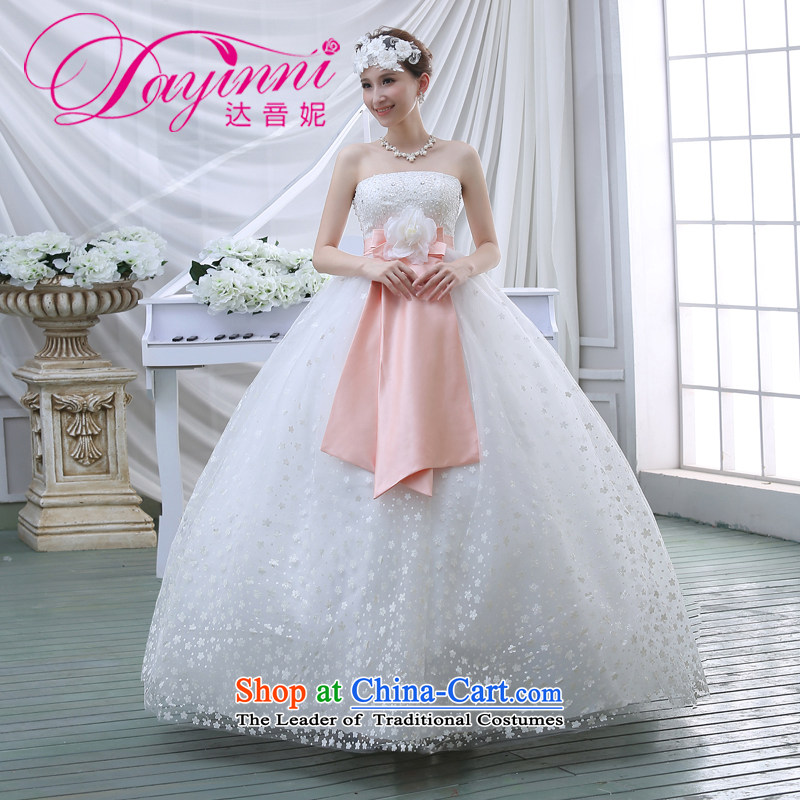 The new 2015 spring to align graphics thin wedding dresses retro lace wiping the chest straps spring V white wedding White XL