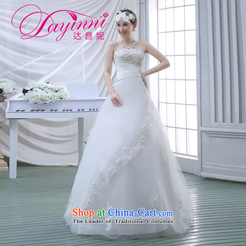 The new Korean Princess Mary Magdalene chest on drill stylish graphics thin large fat mm lace bride wedding dresses Spring 2015 White�M