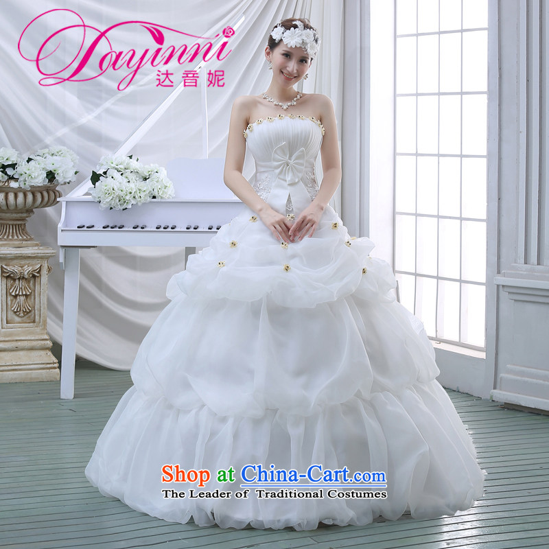The new 2015 Spring/Summer wedding dresses Korean fashion lace wiping the chest to marry her thin wedding video   White�M