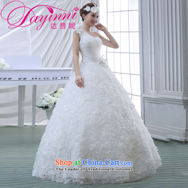 Wedding dress 2015 new Korean bridal lace to align the large spring marriage evening dress small trailing white�L