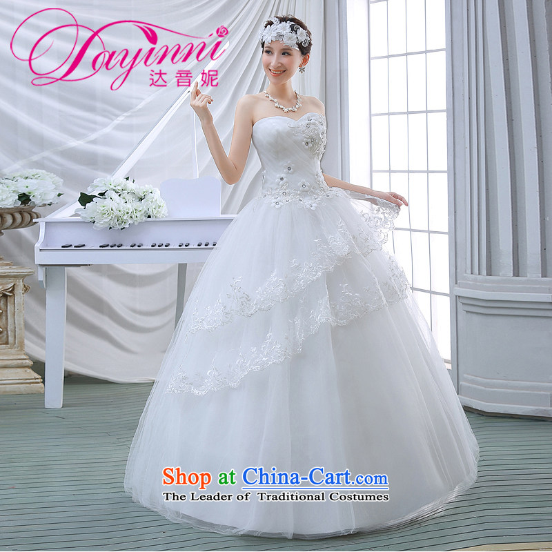 2015 Spring/Summer wedding dresses new lace Sau San video thin alignment with chest-Korean Bridal Suite White�XXL