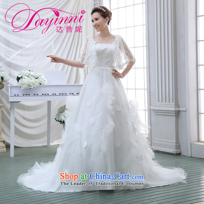 Wedding dress 2015 NEW Summer Wedding wedding lace stylish Korean long tail of the word wedding white S shoulder