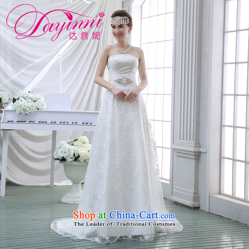 The new 2015 wedding dresses and chest small trailing crowsfoot stylish Sau San Korean brides to align the lace larger winter white�L