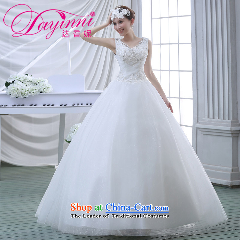 Wedding dresses spring 2015 new lace shoulders of diamond ornaments deluxe to align the wedding White聽M