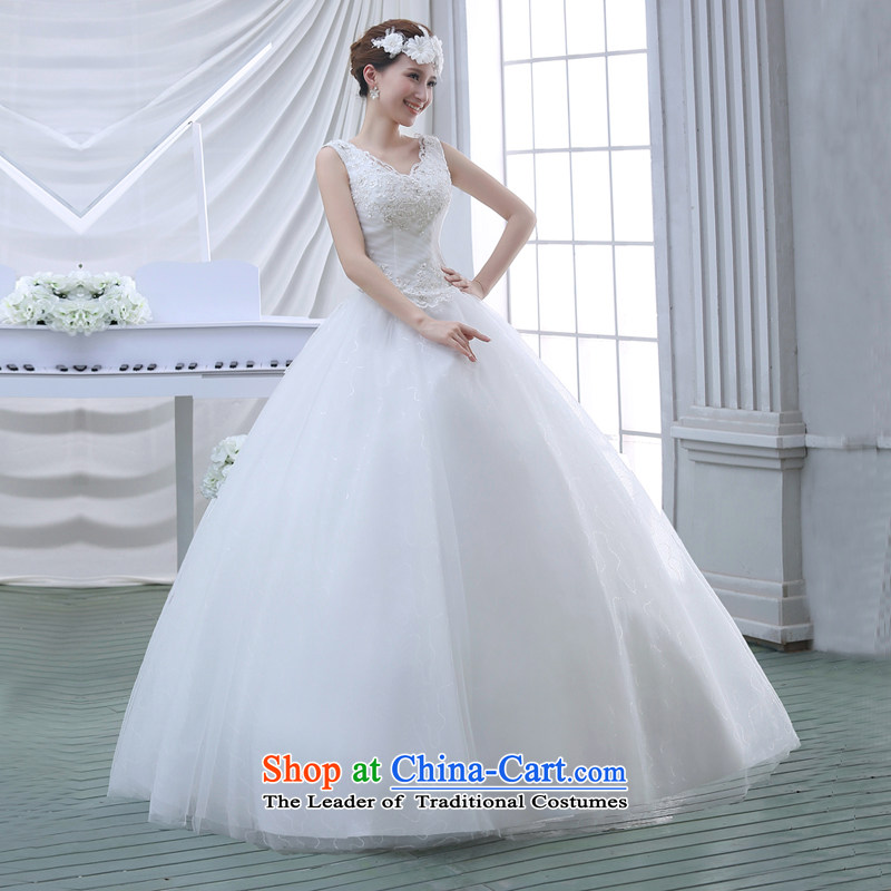Wedding dresses spring 2015 new lace shoulders of diamond ornaments deluxe to align the wedding White聽M to sound (dayinni ni) , , , shopping on the Internet