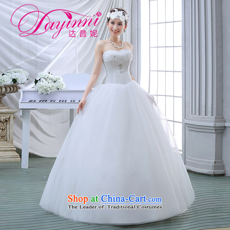 The bride wedding dresses 2015 new spring and summer Korean anointed chest Sau San sleeveless simplicity to align the large luxury big White?XL
