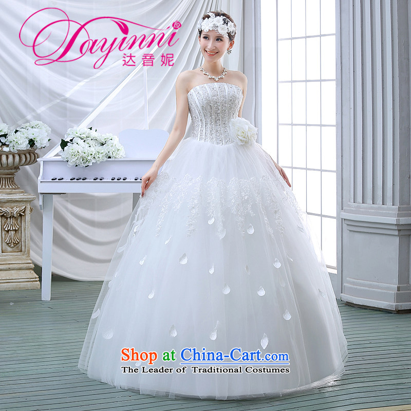 2015 Autumn bride, Diamond Korean alignment with Chest Sau San large white dress code wedding dress princess lace white stylish�XL