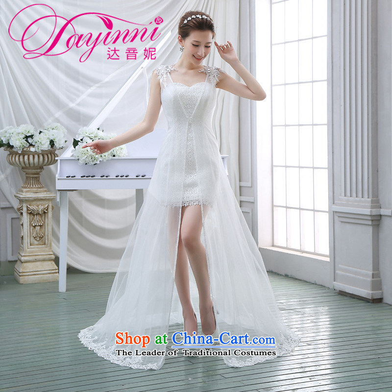 Show Show wedding dresses 2014 new stylish Korean winter two kits package and small white dresses dress auspices?XL