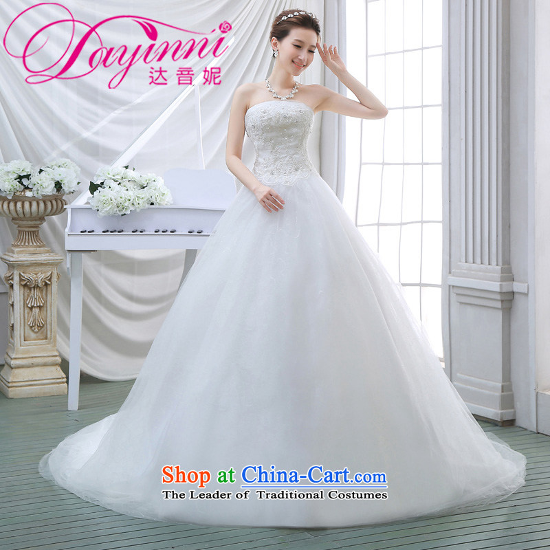 Wedding dresses new 2015 Spring tail bride anointed chest video thin Korean wedding tail lace white聽S