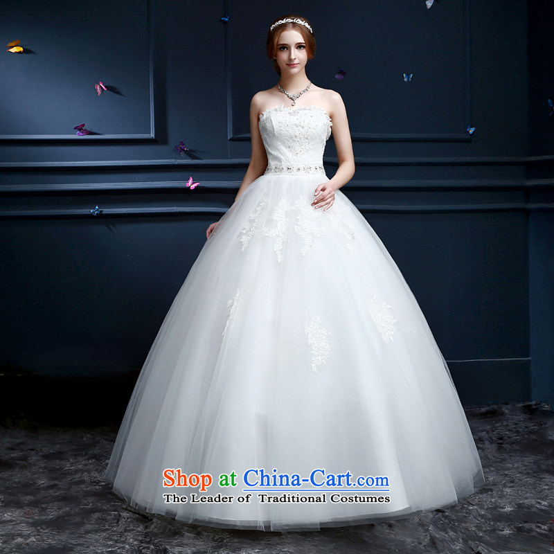 _Aaron's health-new bride in spring and summer 2015 wedding dresses palace retro lace wedding sexy anointed chest to wedding code graphics thin white Sau San聽S