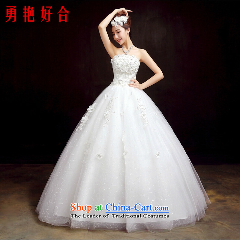 Yong-yeon and wedding dresses new stylish 2015 Korean marriages white Sau San with chest align code in spring and summer as the size of the White non-refundable