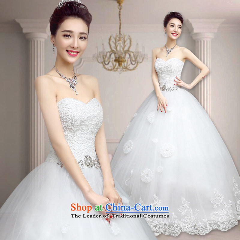 In accordance with the Netherlands varies with the wedding dress in spring and summer 2015 new white strap and chest wedding Korean to align the simple graphics thin marriages wedding wipe of the funds from the Chest�XXL