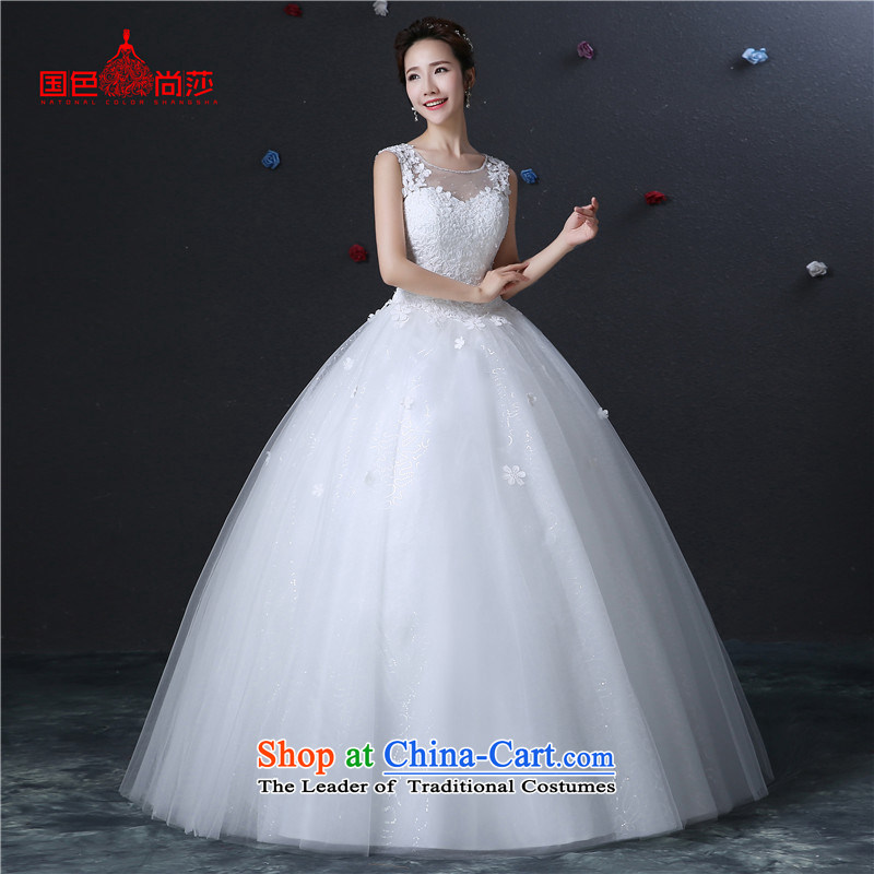 The color is Windsor bride wedding dresses Korean style package stylish new 2015 shoulder to align graphics thin lace retro large shoulders autumn and winter White�XXL