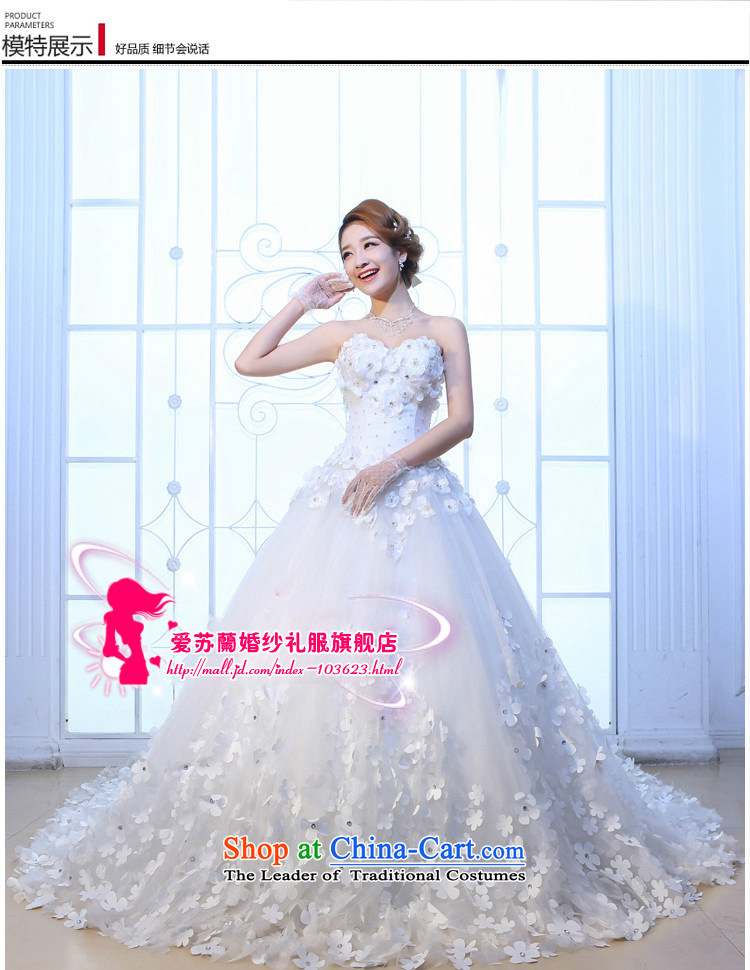 The new red and Chest Flower wedding tail Korean Sau San wedding long graphics thin red tail 2m tail聽XXXL picture, prices, brand platters! The elections are supplied in the national character of distribution, so action, buy now enjoy more preferential! As soon as possible.