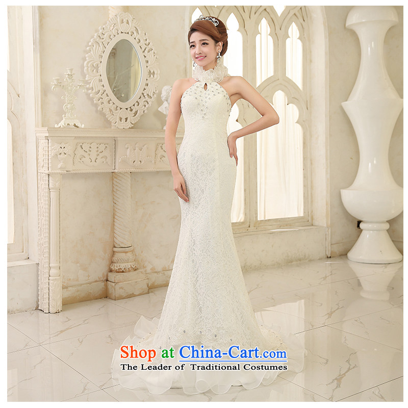 The beautiful new hang history of wedding fashion Foutune of small trailing married new elegant and wedding package Sau San sleeveless minimalist with bore video photography stage White M tall
