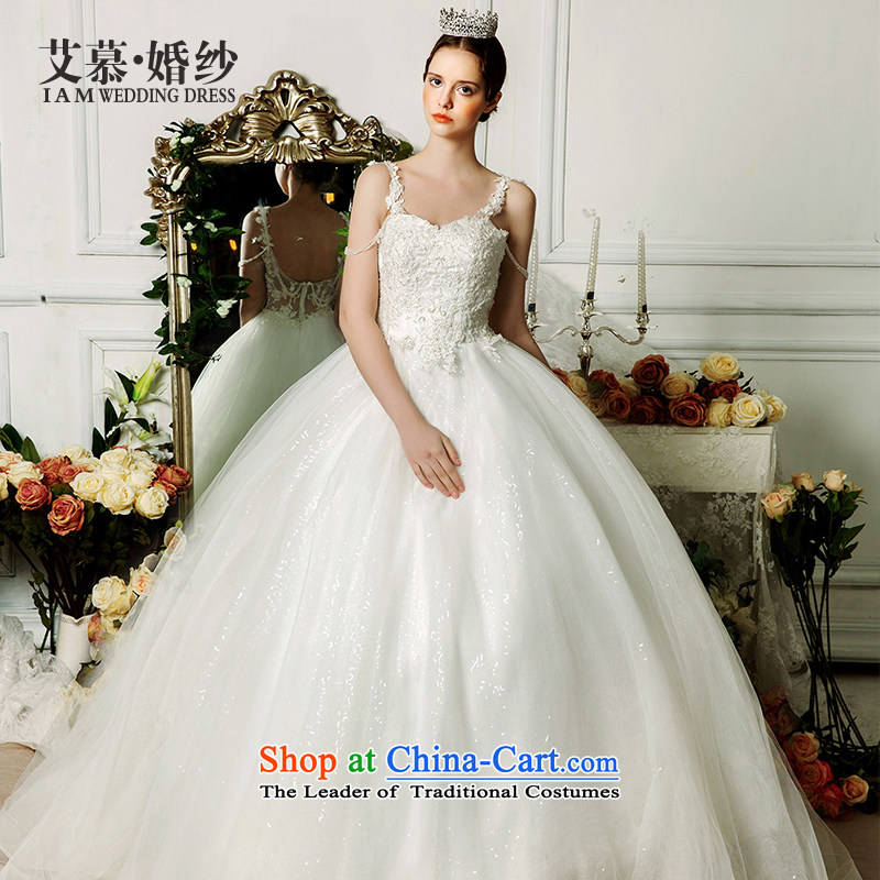 The wedding dresses HIV�2015 New Yuen-ting straps bon bon skirt long tail and chest wedding ivory�S