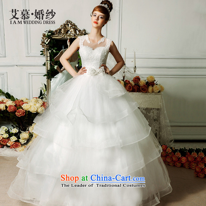 The wedding dresses HIV NEW 2015 Connie shoulders and diffuse chest bon bon, wedding ivory聽S