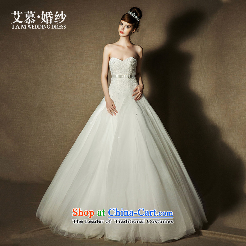 The wedding dresses HIV?2015 new poetry Yao wiping the breast height waist lace A skirt wedding ivory?M