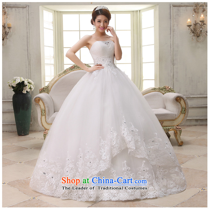 The beautiful yarn and chest to wedding elegant white diamond bon bon skirt Sau San tie larger minimalist sleeveless align to make the new 2015 new product sells white customizable