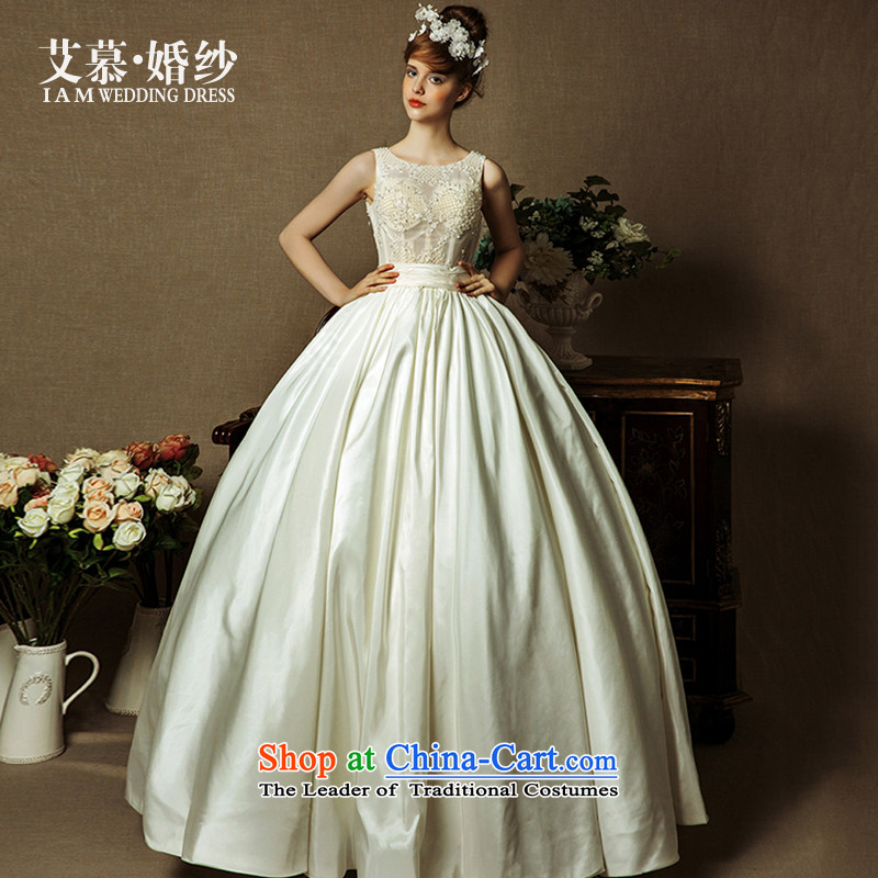 The wedding dresses HIV 2015 new included Xuan shoulders a semi-permeable to align bon bon skirt wedding champagne color S