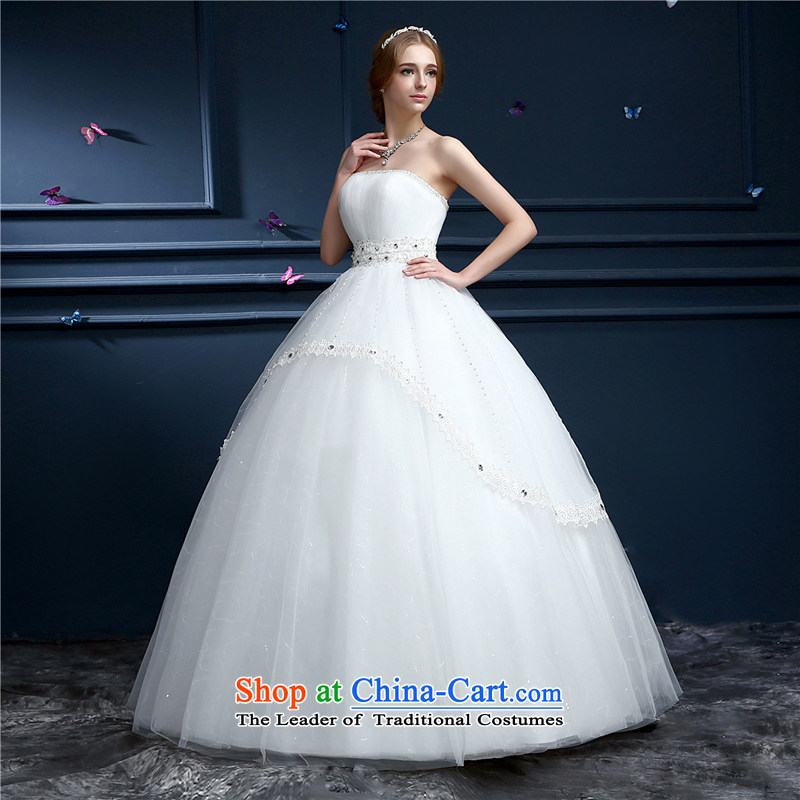 (Heung-lun's wedding dresses as soon as possible the new spring 2015, Korean Won-wiping the chest minimalist bon bon skirt to align the bride wedding pregnant woman can wear a thin white�S Video Decoding