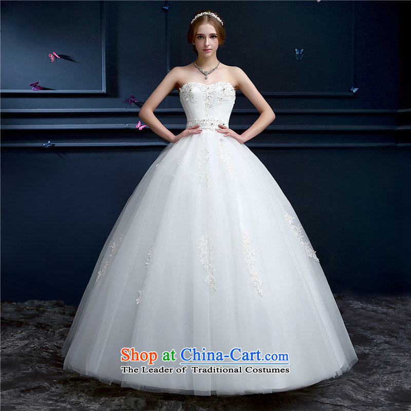 The Champs Elysees, Karen wedding dresses 2015 new marriages and chest straps long white_ to align the large number of Sau San Wedding Korean style spring and summer White?M