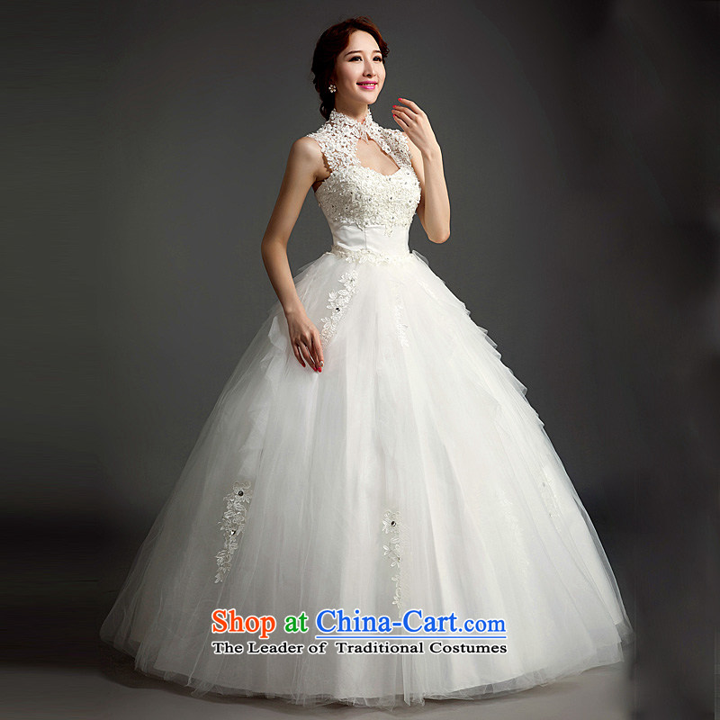 Ho full Chamber wedding dresses new stylish Korean brides 2015 Word Back shoulder straps lace to align the white?S