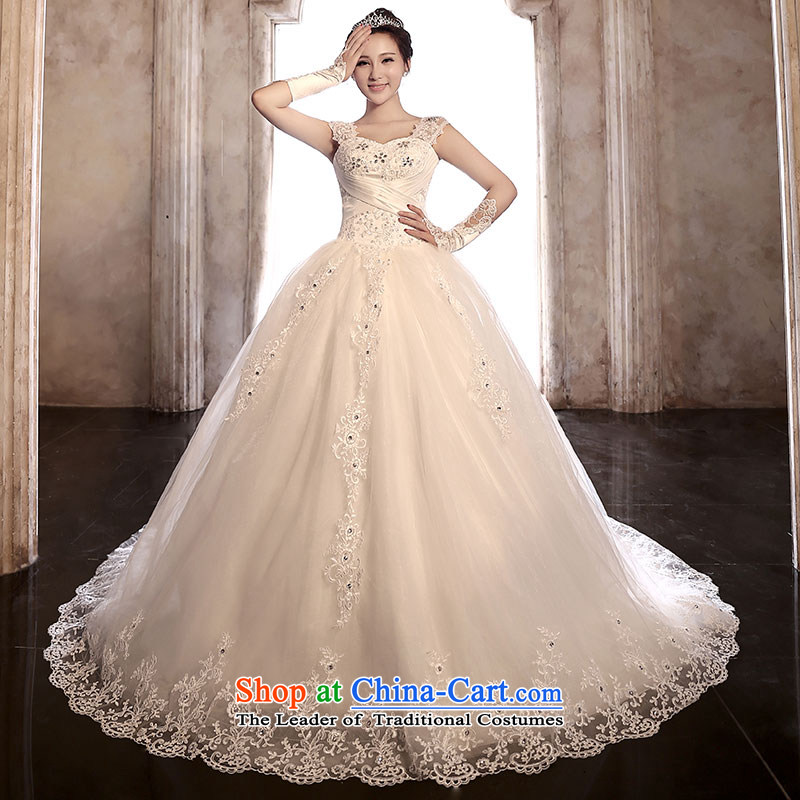 Millennium bride?2015 New 3 through law lace bride wedding dresses video word thin shoulders tail wedding H920 stylish tail)?S