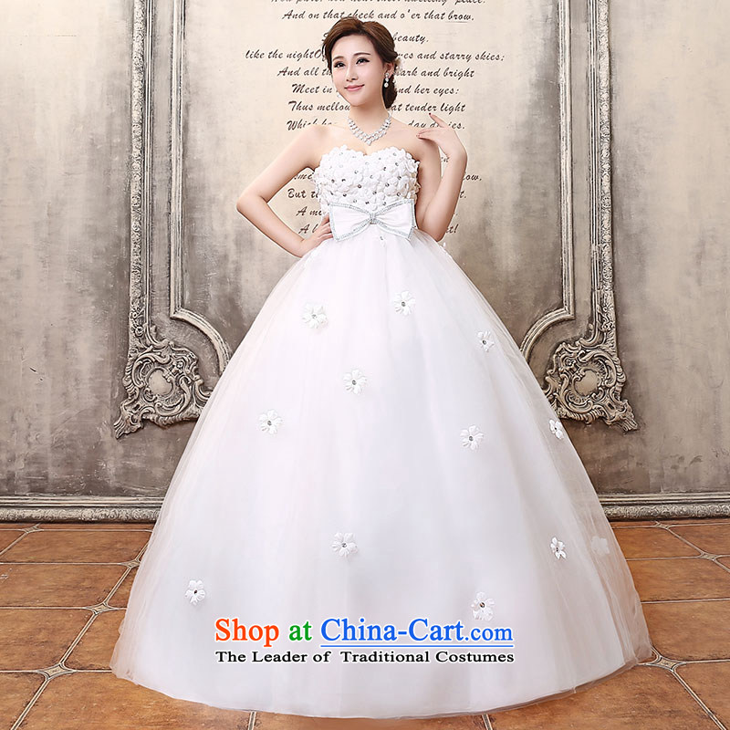 Millennium bride?2015 new xl pregnant women high waist wedding dresses larger thick mm thin wedding integrated graphics with Sau San H113 White?XXL