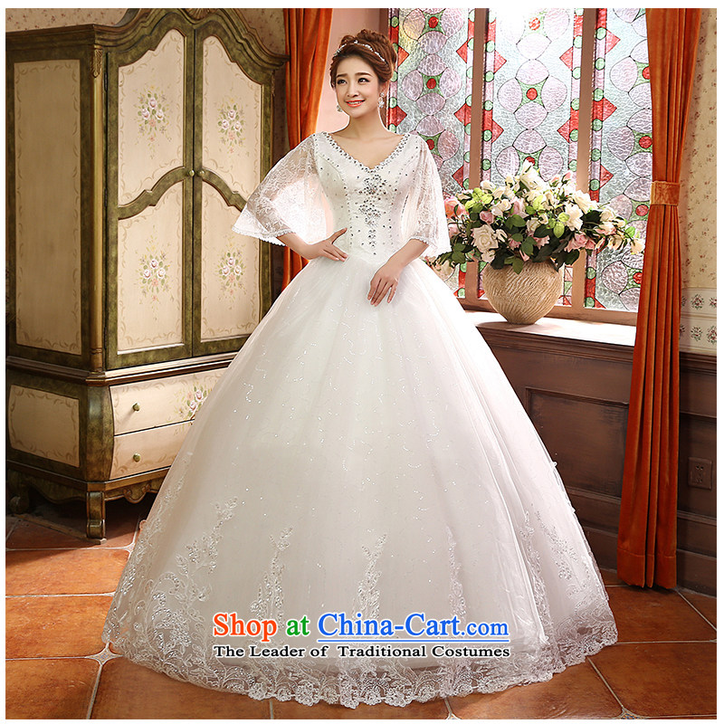 The factory outlets 2015 new 2 to align the shoulder wedding fashion bride V-Neck wedding minimalist horn cuff with video thin beauty of beautiful white?L yarn