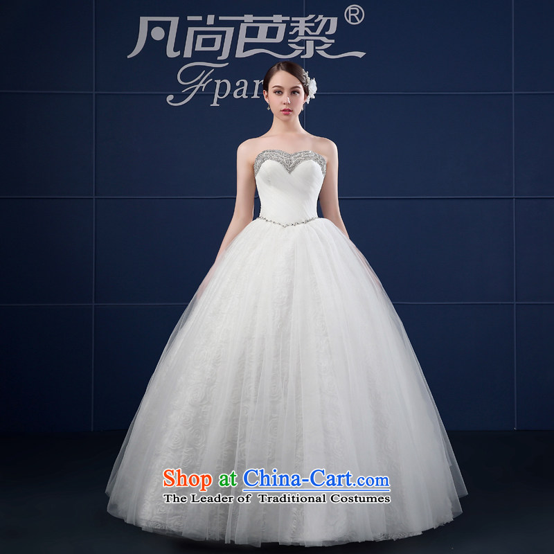 Wedding dresses 2015 Spring New Korean version of large numbers of the funds from the chest and bride custom vera wang wedding summer White?XXL