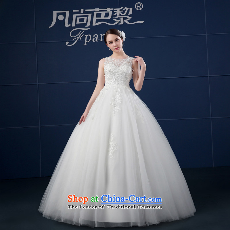 Where Is Barbara Lai wedding dresses 2015 new spring and summer Korean large shoulders to align the word shoulder wedding summer bride White聽XL
