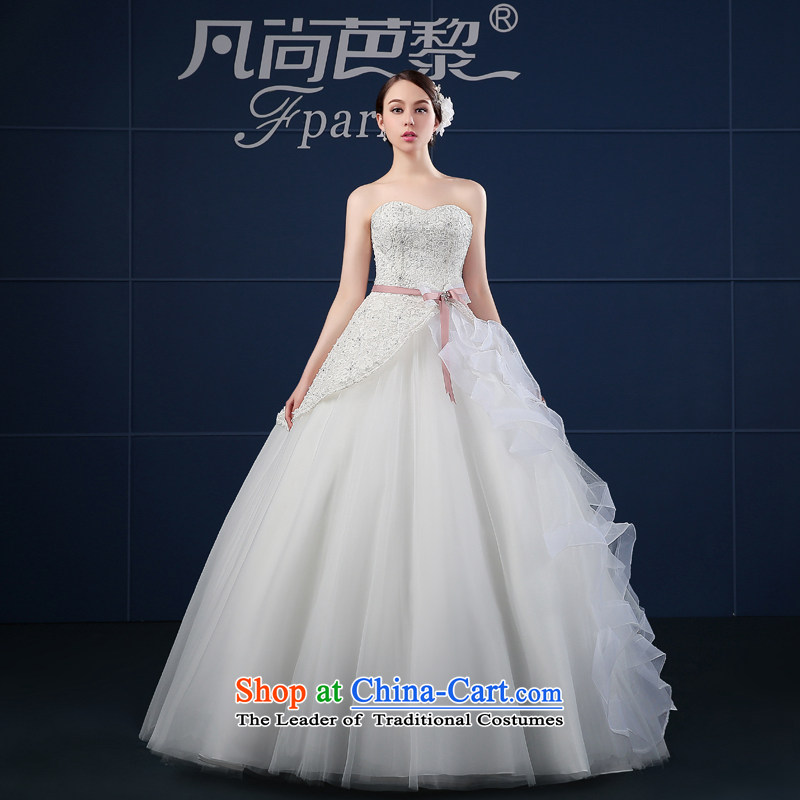 Where Is Barbara Lai wedding dresses 2015 new spring and summer Korea version of large numbers of Sau San anointed chest of the funds from the bride wedding summer White M