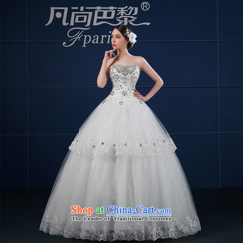 Where Is Barbara Lai wedding dresses? 2015 new spring and summer large retro minimalist and Sau San chest wedding summer bride White?XL