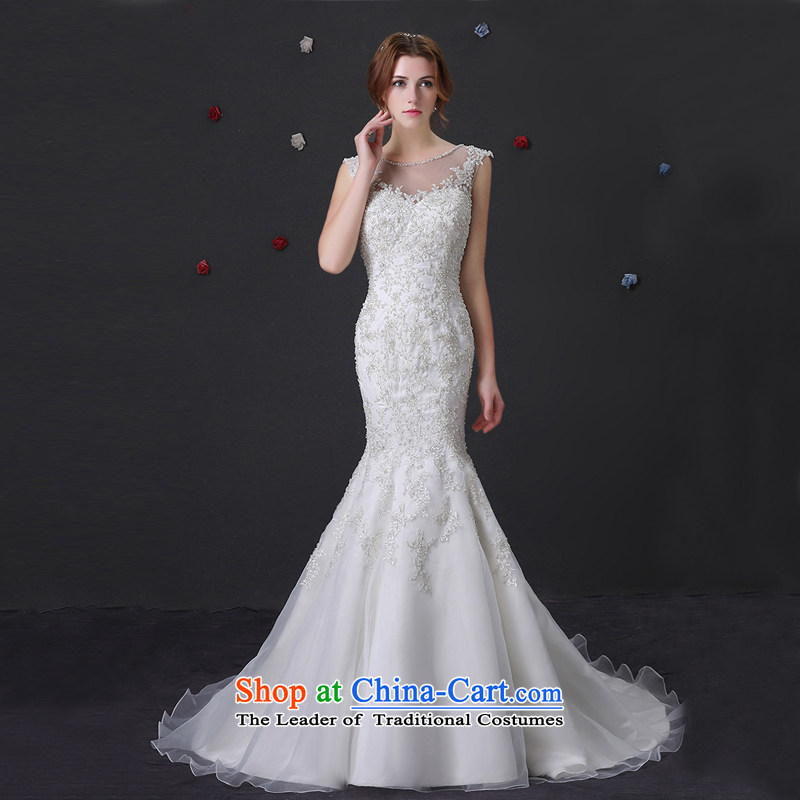 Custom Wedding 2015 dressilyme wedding dresses spring and summer New Sau San crowsfoot lace stylish tail white dual load bride shoulder ivory - no spot�XXSTOXL)