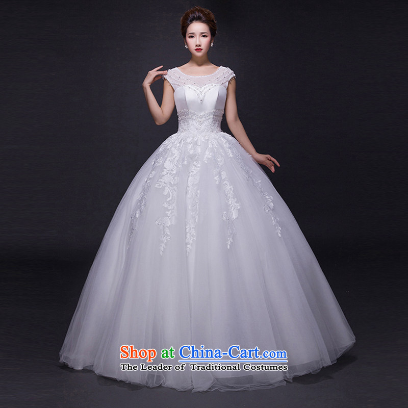 Hei Kaki wedding dresses聽2015 new autumn and winter noble stylish shoulders lace bon bon petticoats align to bind with wedding JX14 ivory聽XS