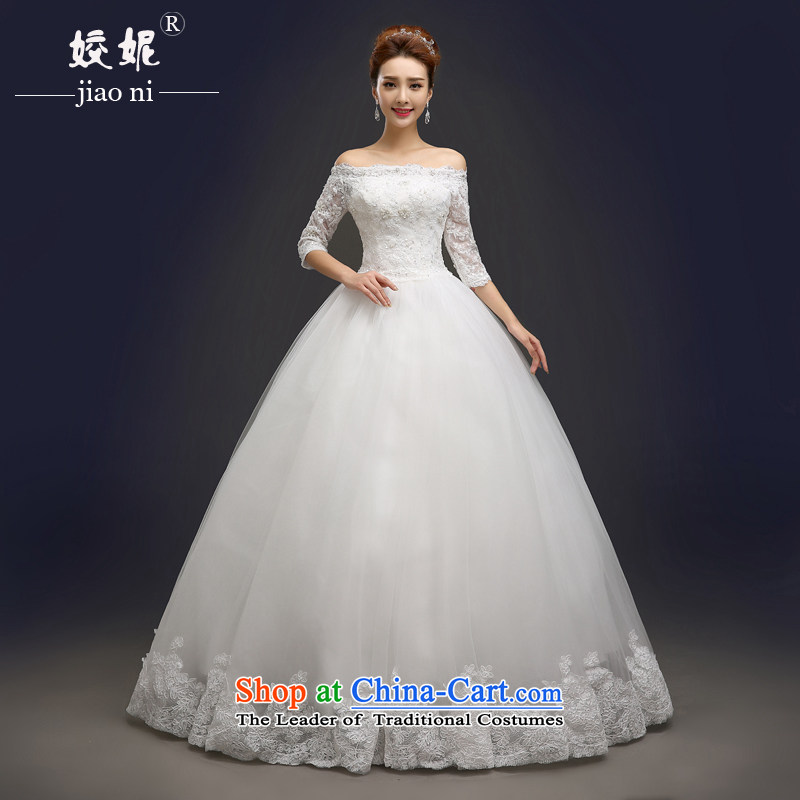 The spring and summer of 2015, Connie every new wedding fashion a field shoulder marriages lace diamond wedding dresses to align the large female customizable� 001�white tailored does not allow for seven days of