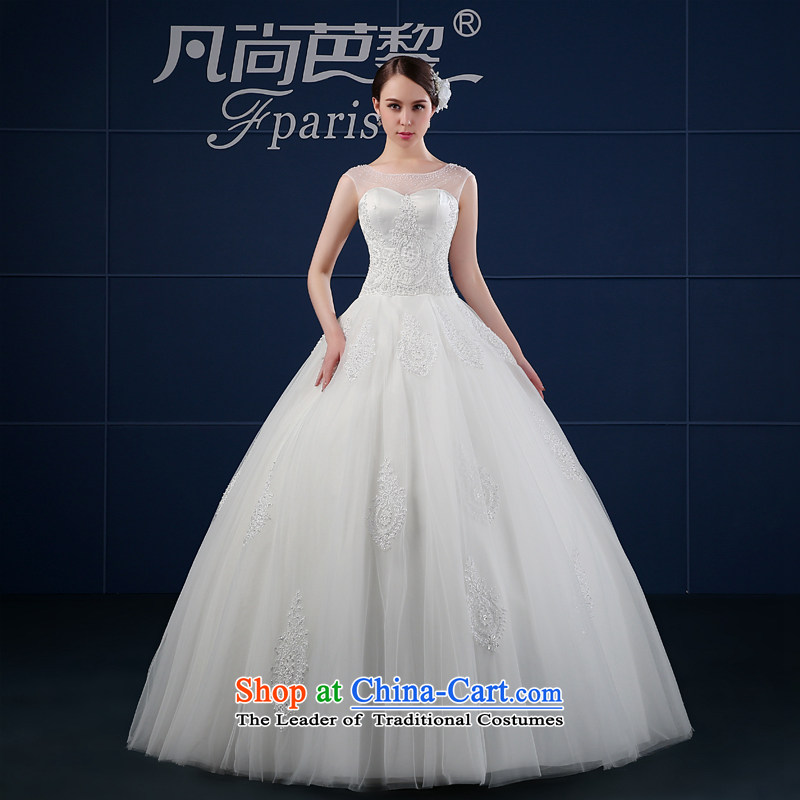 Wedding dress 2015 new spring and summer minimalist large shoulders to align the Sau San package shoulder bride wedding summer word shoulder White XXL