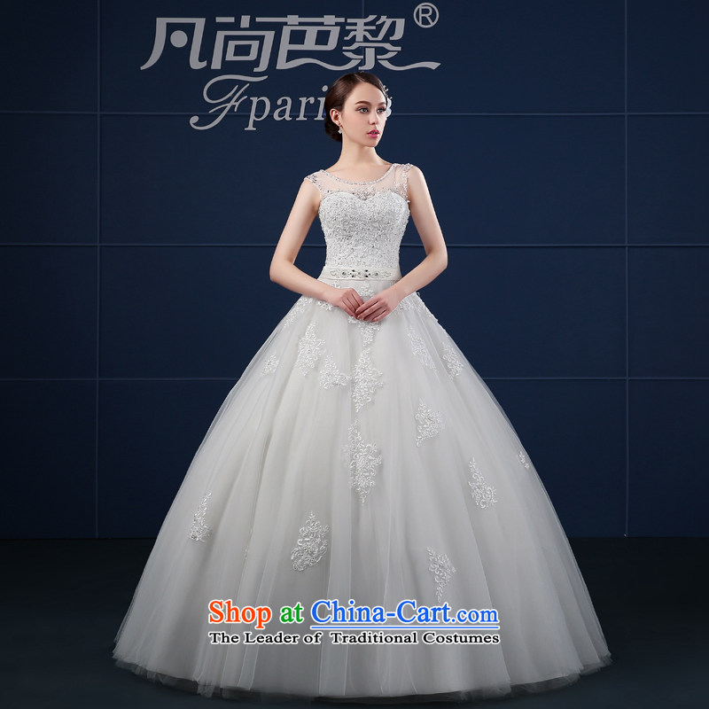 Where Is Barbara Lai wedding dresses 2015 Spring_Summer new Korean version of large shoulders to align the code word bride shoulder wedding summer White聽XL