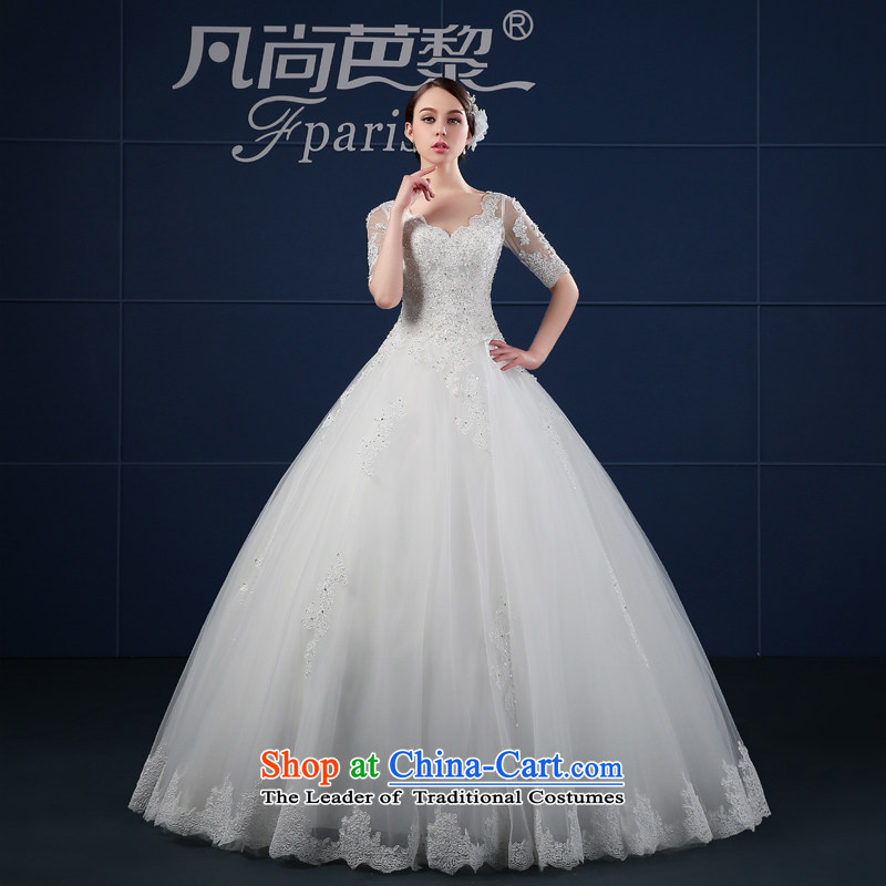 Where Is Barbara Lai wedding dresses 2015 new spring and summer in large Korean long-sleeved bride wedding summer word shoulder White�XXL