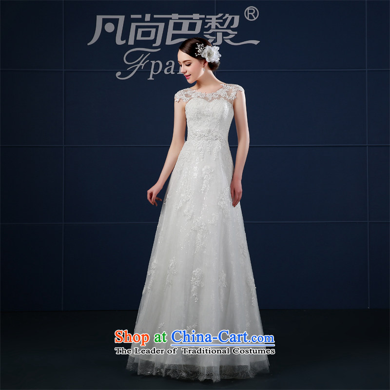 Wedding dress 2015 Spring_Summer a new stylish Korean field shoulder to align graphics thin large Sau San bride wedding summer white聽S
