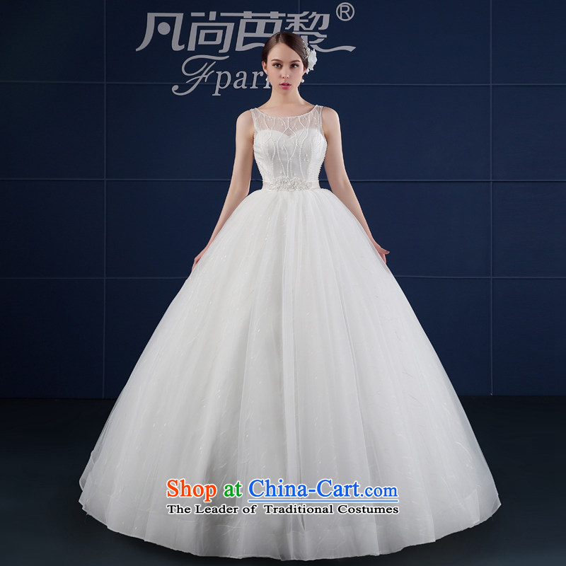 Wedding dress 2015 new spring and summer Korean large minimalist align to Sau San shoulders bride wedding summer word shoulder white聽S