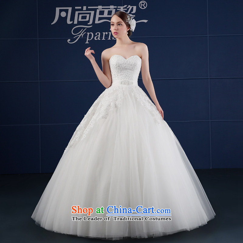 Wedding dress 2015 new spring and summer Korean large wiping the chest simple drill to align graphics Sau San thin bride wedding summer White?XXL
