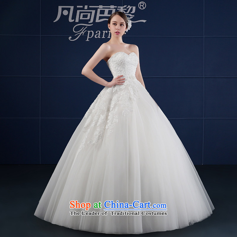 Wedding dress 2015 new spring and summer Korean large wiping the chest simple drill to align graphics Sau San thin bride wedding summer XXL, where there and White Lai (FSUNPARES) , , , shopping on the Internet