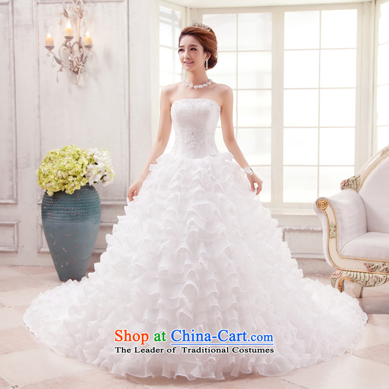 Each Connie white streak Wedding�2015 spring wiping the chest stylish lace graphics slender tail wedding marriages hunsha summer white tailored does not allow for seven days of
