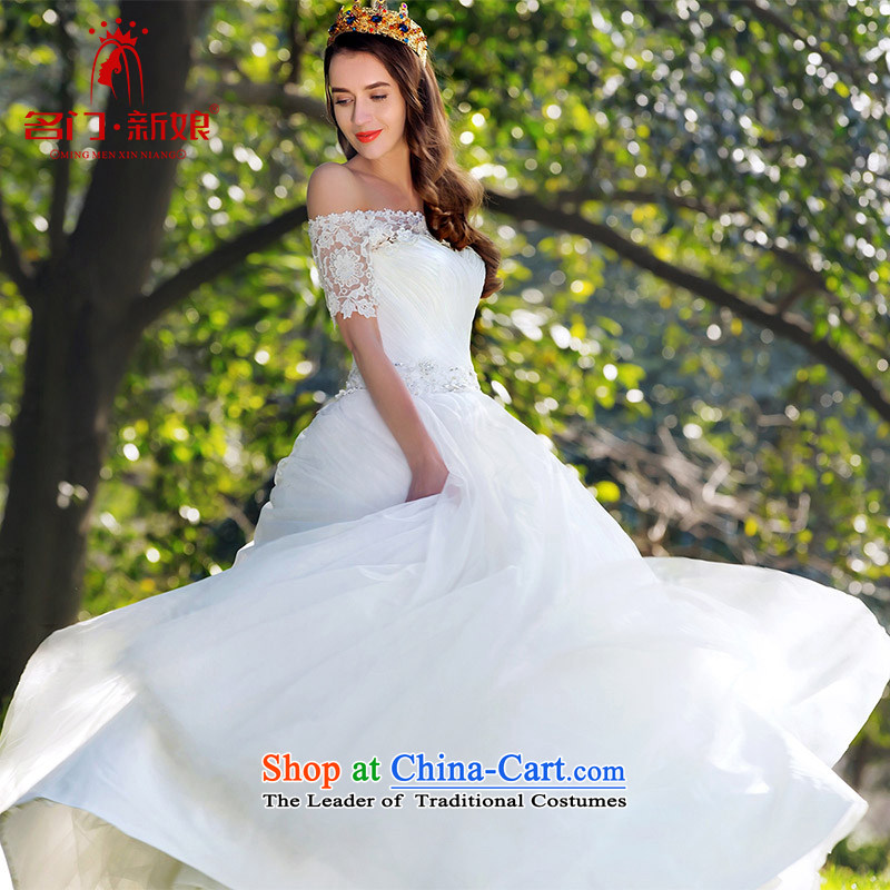 A Bride lace a shoulder wedding canopy Princess Chulabhorn minimalist wedding original design tailored 926 20%