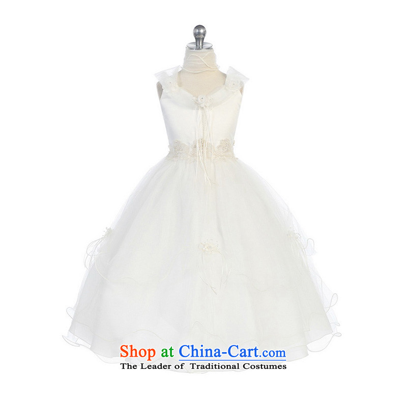 ?The sponsors of the 2015 LAURELMARY new 2 shoulder strap girls princess skirt Flower Girls Boys choir performances dresses skirt dress ivory?14